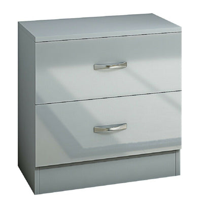 High Gloss Grey Bedside Table