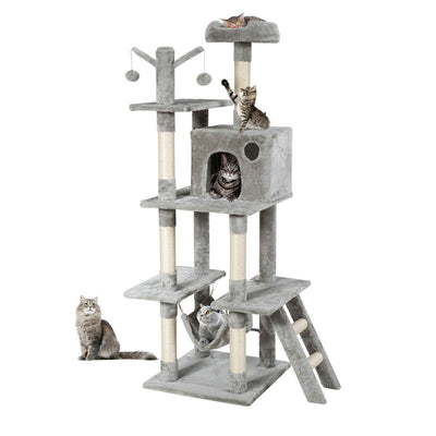 HL Large (155cm) Cat Activity Tree Condo - Silver