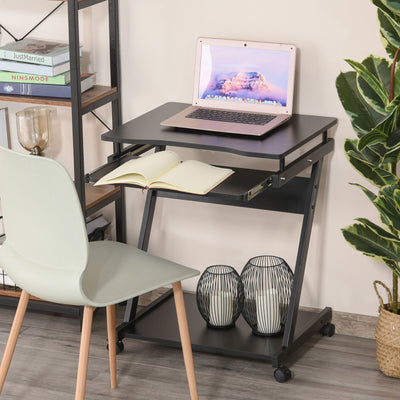 Movable Computer Desk with 4 Moving Wheels