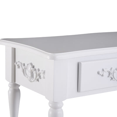 2 Drawer White Console Table
