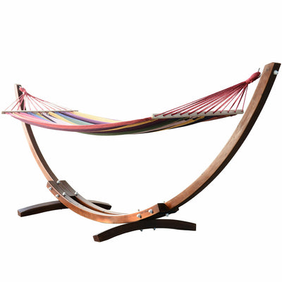 HLX Outdoor Wood Frame Hammock with Stand