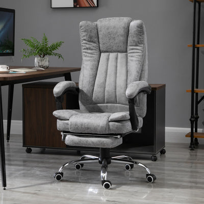 6-Point Vibrating Massage Office Chair with Footrest