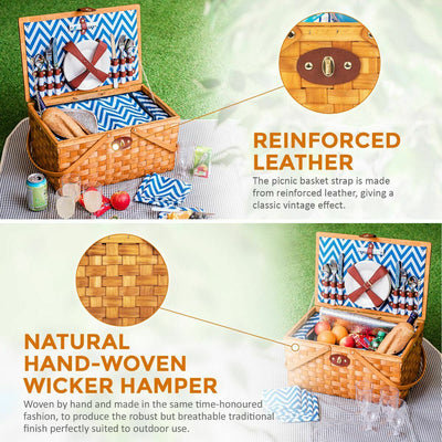 Luxury Wooden Picnic Basket