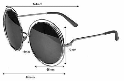 High Quality Fashion Large Round Sunglasses