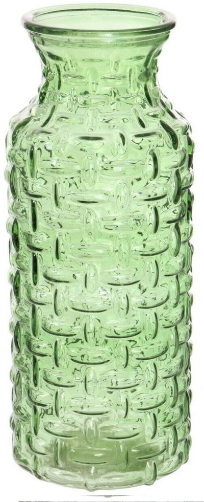 Large Wide Mouth Glass Vase