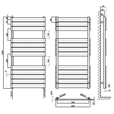 Flat Panel Heated Towel Rail