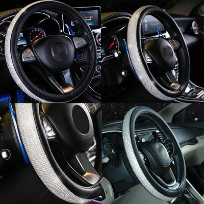 Luxury Crystal Car Steering Wheel Cover