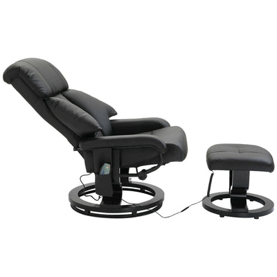 Electric Heated Massage Sofa Chair with Footrest