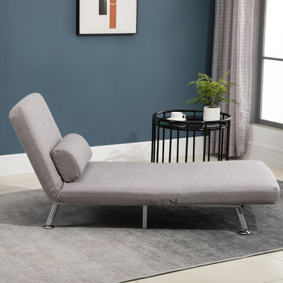 Deluxe Single Sofa Bed w/ Pillow and Metal Frame Padding