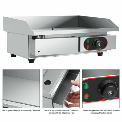 Electric Countertop Griddle Hot Plate