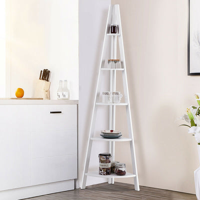 5-tier Corner Ladder Shelf