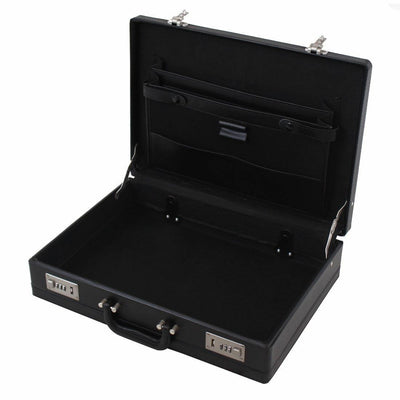 Professional Mens Leather Briefcase with Combination Locks