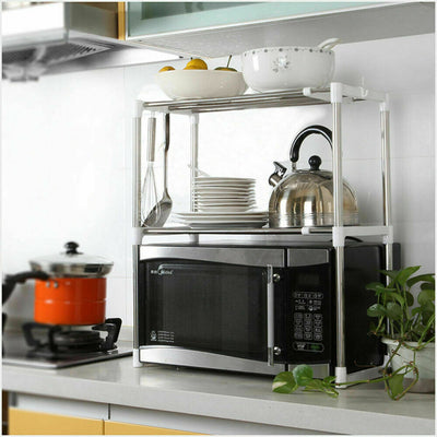 2 Tier Microwave Kitchen Storage