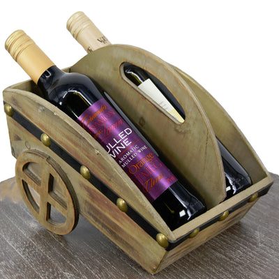 Wheel Barrel Wine Rack
