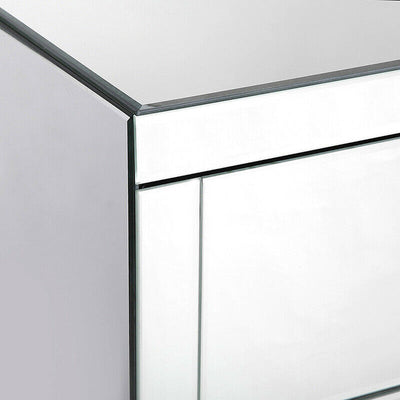 High Gloss Mirrored Bedside Table