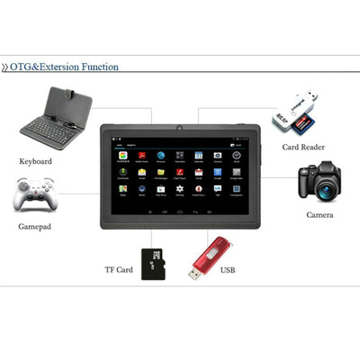 7″ Android Tablet with 8GB Storage