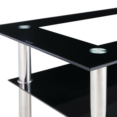 Glass & Metal Living Room Coffee Table