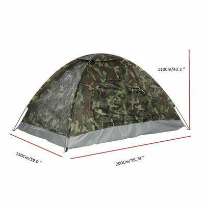Camouflage Waterproof 2 Man Tent