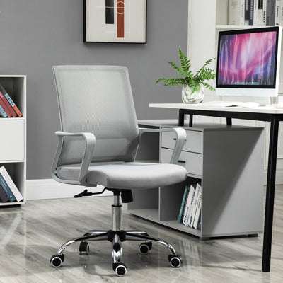 360° Swivel Ergonomic Grey Office Chair