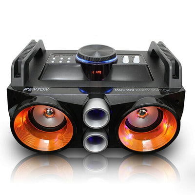 Portable Stereo Bluetooth Boombox Speaker with Mega Bass USB MP3 Player