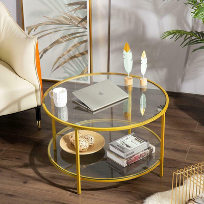 Modern Double Glass Coffee table