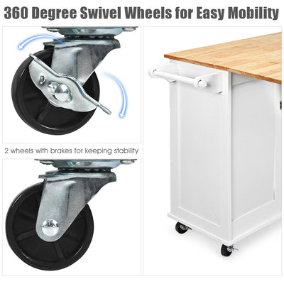 Rolling Kitchen Storage Trolley Cart