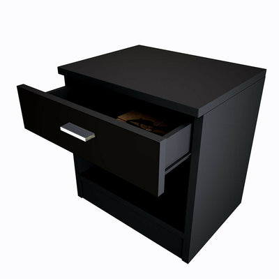 High Gloss Bedside Table Drawer