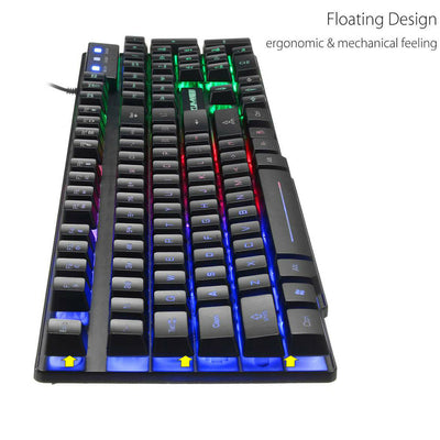 GTX55 RGB Gaming keyboard with Gaming Mouse