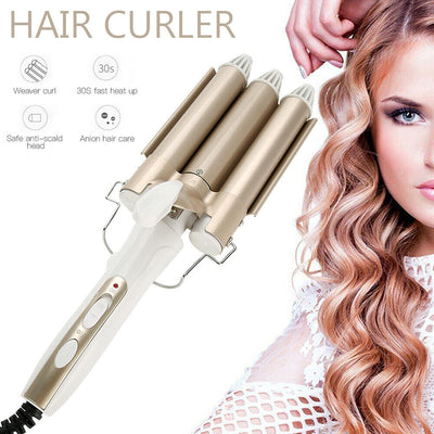 Ceramic Triple Electric Hair Curler