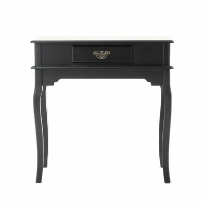 Sinena Black Dressing Table Set with Stool, Tri-Folding Mirror & Storage
