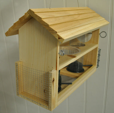 Wooden Bird feeding station