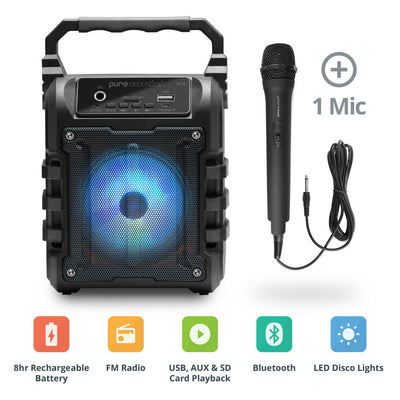 LX-10 Portable Karaoke Machine With Microphone