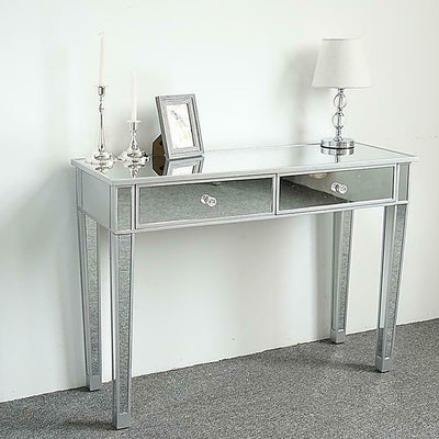 Mirrored 2 Drawer Dressing Table