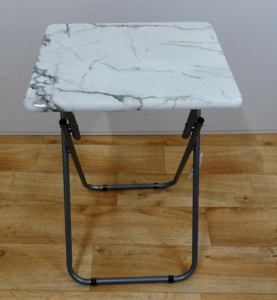 Marble Effect Folding Tray Table