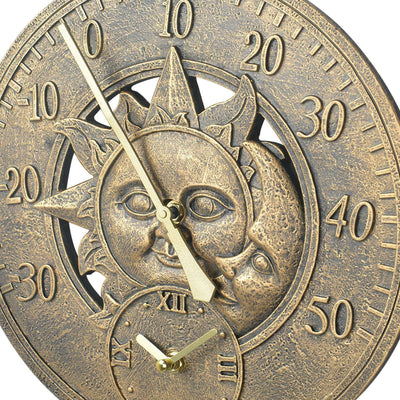 Retro Sun/Moon Garden Clock