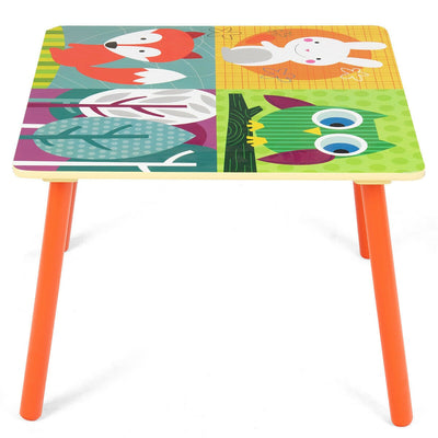 Children's Wooden Colourful Multi-purpose Table and Chair Set
