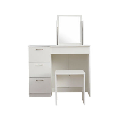 LUX White dressing table with 3 drawers