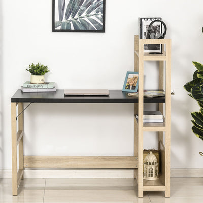 Rectangle Computer Desk with Book Shelf Display