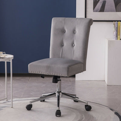 Swivel Velvet Office Chair