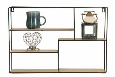 Stylish 5 Section Hanging Wall Shelf
