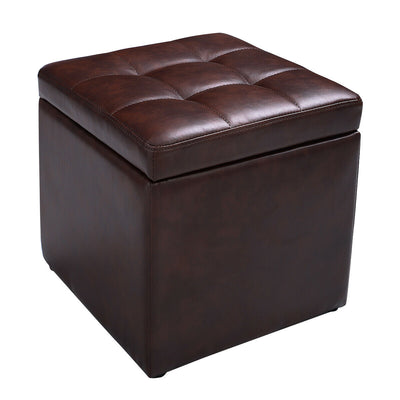 Leather Ottoman Storage Box