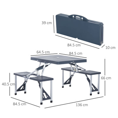 HighLife Folding Portable Camping Picnic Table Set