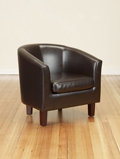 Luxury Faux Leather Tub Chair