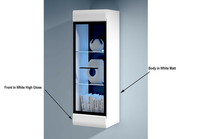 White High Gloss Wall Display Cabinet
