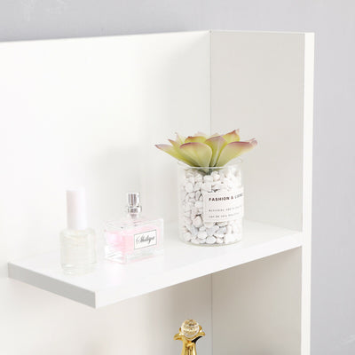 White Modern Dressing Table with Jewellery Makeup Desk