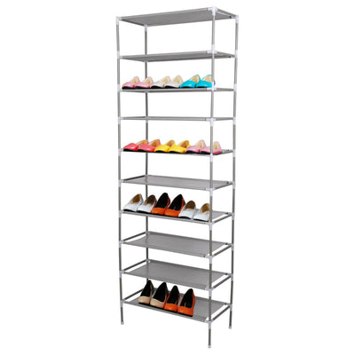 10 Tier 30 Pair Shoe Rack