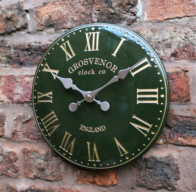 Roman Numerals Outdoor Wall Clock