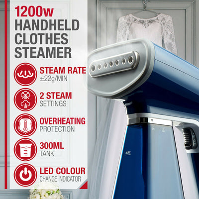 NTA Electric Portable Handheld Clothes Garment Steamer 1200W