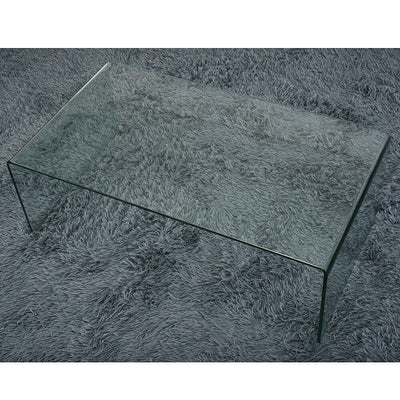 Modern Curved Glass Coffee Table