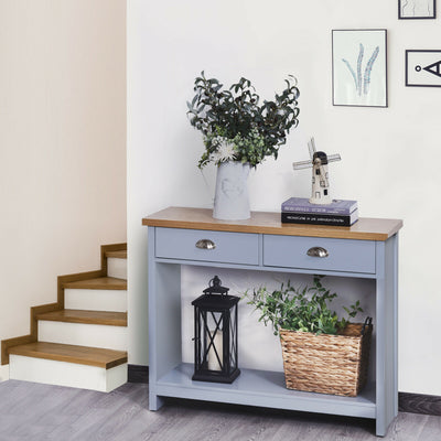 2-Drawer Grey Console Table